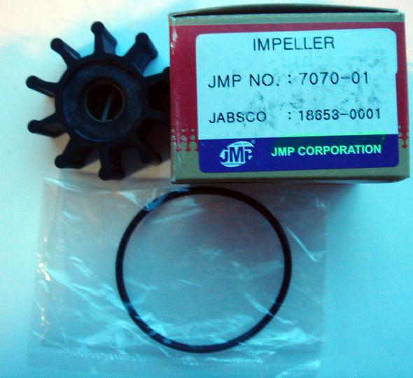 JMP Marine Impeller 7070-01K, Jabsco 18653-0001, 18653-0001B