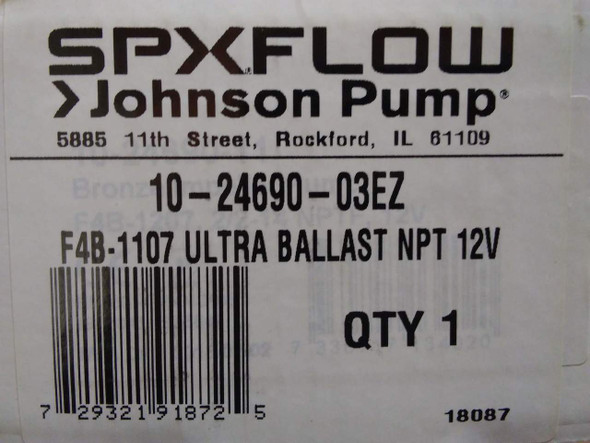 Johnson Ballast Pump 10-24690-03EZ Replaces Johnson 10-24690-18