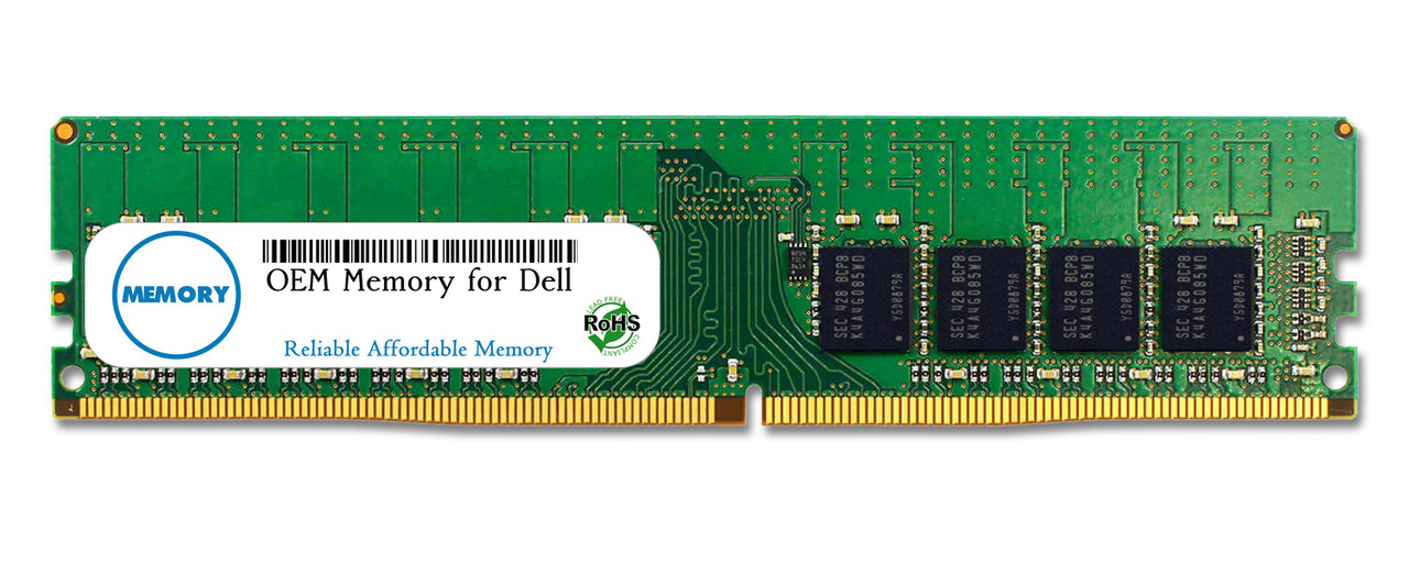 4GB SNPFPFP6C/4G A9654880 288-Pin DDR4-2400 PC4-19200 ECC UDIMM RAM | OEM Memory for Dell
