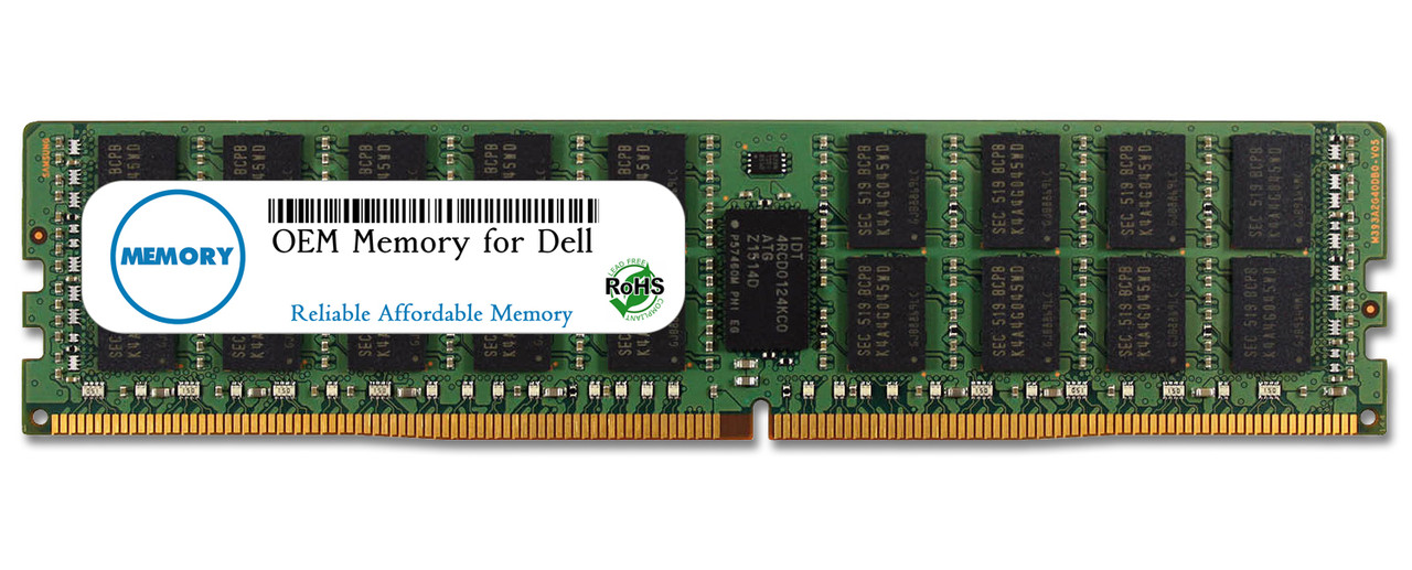 32GB SNPPR5D1C/32G A8217683 288-Pin DDR4-2133 PC4-17000 ECC RDIMM RAM | OEM Memory for Dell