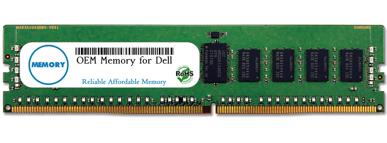 8GB SNPH8PGNC/8G A7910487 288-Pin DDR4-2133 PC4-17000 ECC RDIMM RAM | OEM Memory for Dell