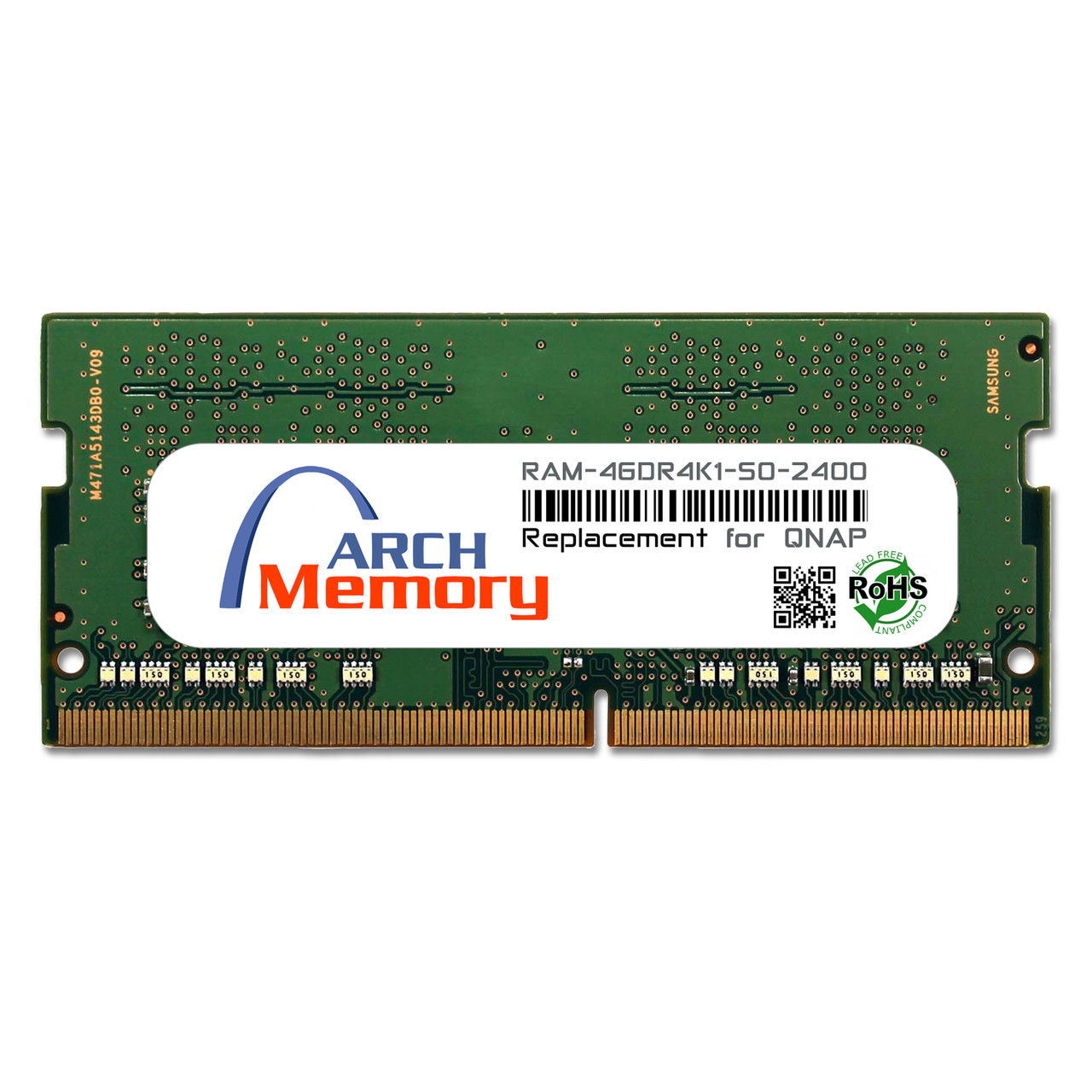 4GB RAM-4GDR4K1-SO-2400 DDR4-2400 PC4-19200 260-Pin SODIMM RAM K1 Version | Memory for QNAP