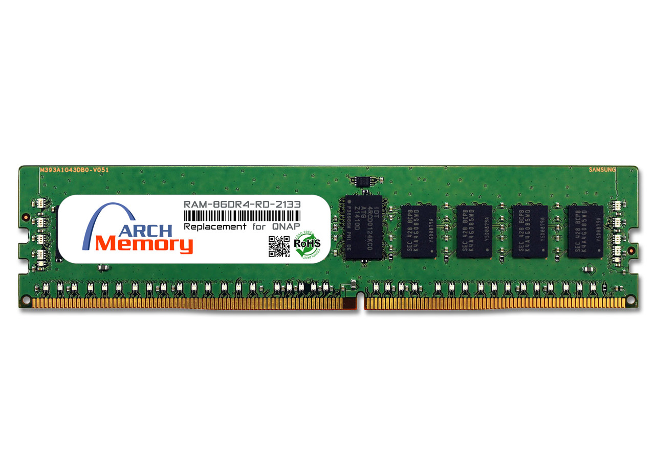 8GB RAM-8GDR4-RD-2133 DDR4-2133 PC4-17000 288-Pin ECC Registered RDIMM RAM | Memory for QNAP