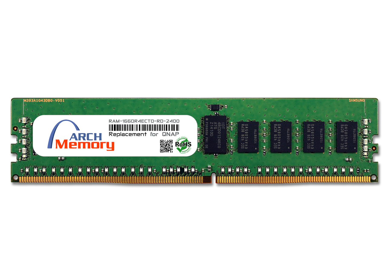 16GB RAM-16GDR4ECT0-RD-2400 DDR4-2400 PC4-19200 288-Pin ECC Registered RDIMM RAM | Memory for QNAP