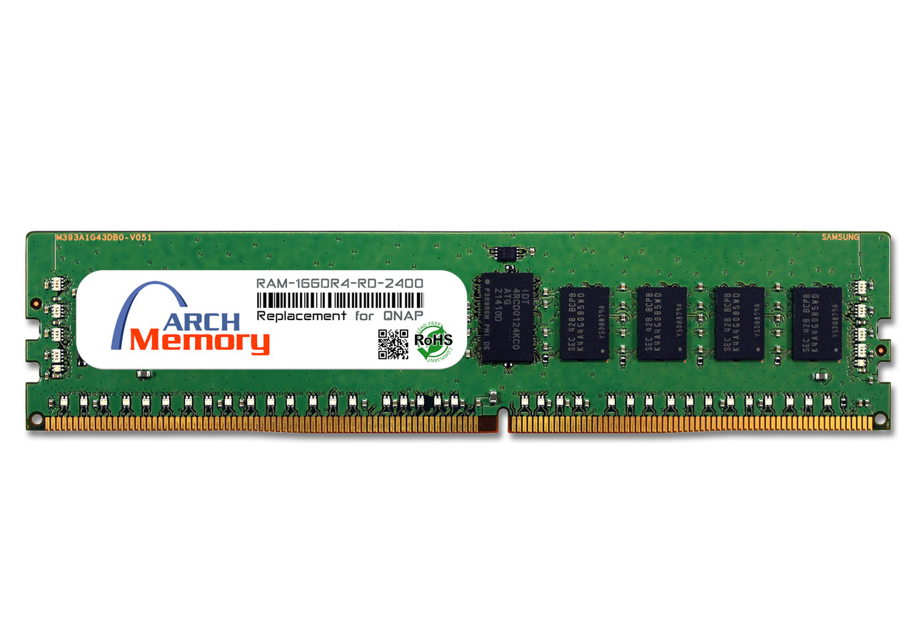 16GB RAM-16GDR4-RD-2400 DDR4-2400 PC4-19200 288-Pin Registered RDIMM RAM | Memory for QNAP