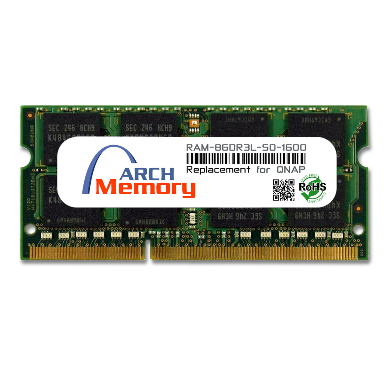 8GB RAM-8GDR3L-SO-1600 DDR3L-1600 PC3-12800 204-Pin SODIMM RAM | Memory for QNAP