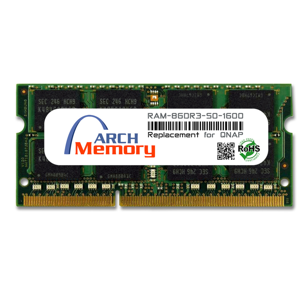 8GB RAM-8GDR3-SO-1600 DDR3-1600 PC3-12800 204-Pin SODIMM RAM | Memory for QNAP