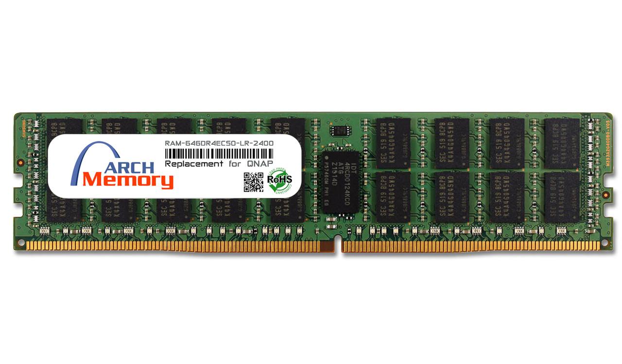 64GB RAM-64GDR4ECS0-LR-2400 DDR4-2400 PC4-19200 288-Pin ECC LR UDIMM RAM | Memory for QNAP