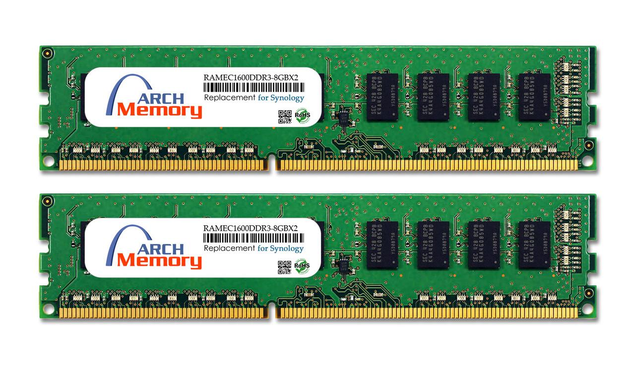 8GB RAMEC1600DDR3-8GBX2 DDR3-1600 PC3-12800 ECC UDIMM RAM | Memory for Synology