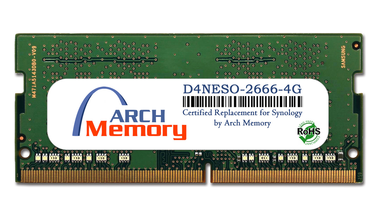 4GB D4NESO-2666-4G DS220+ DDR4 260-Pin Sodimm RAM | Memory for Synology