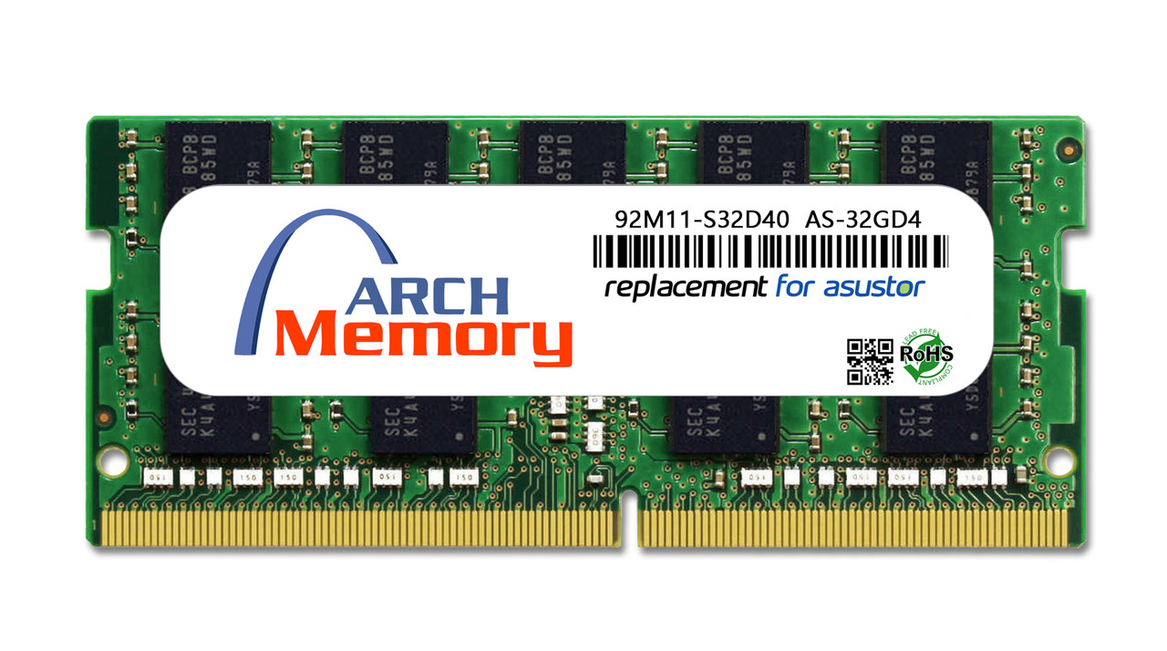 32GB 92M11-S32D40 AS-32GD4 DDR4-2666 260-Pin ECC So-dimm RAM | Memory for Asustor