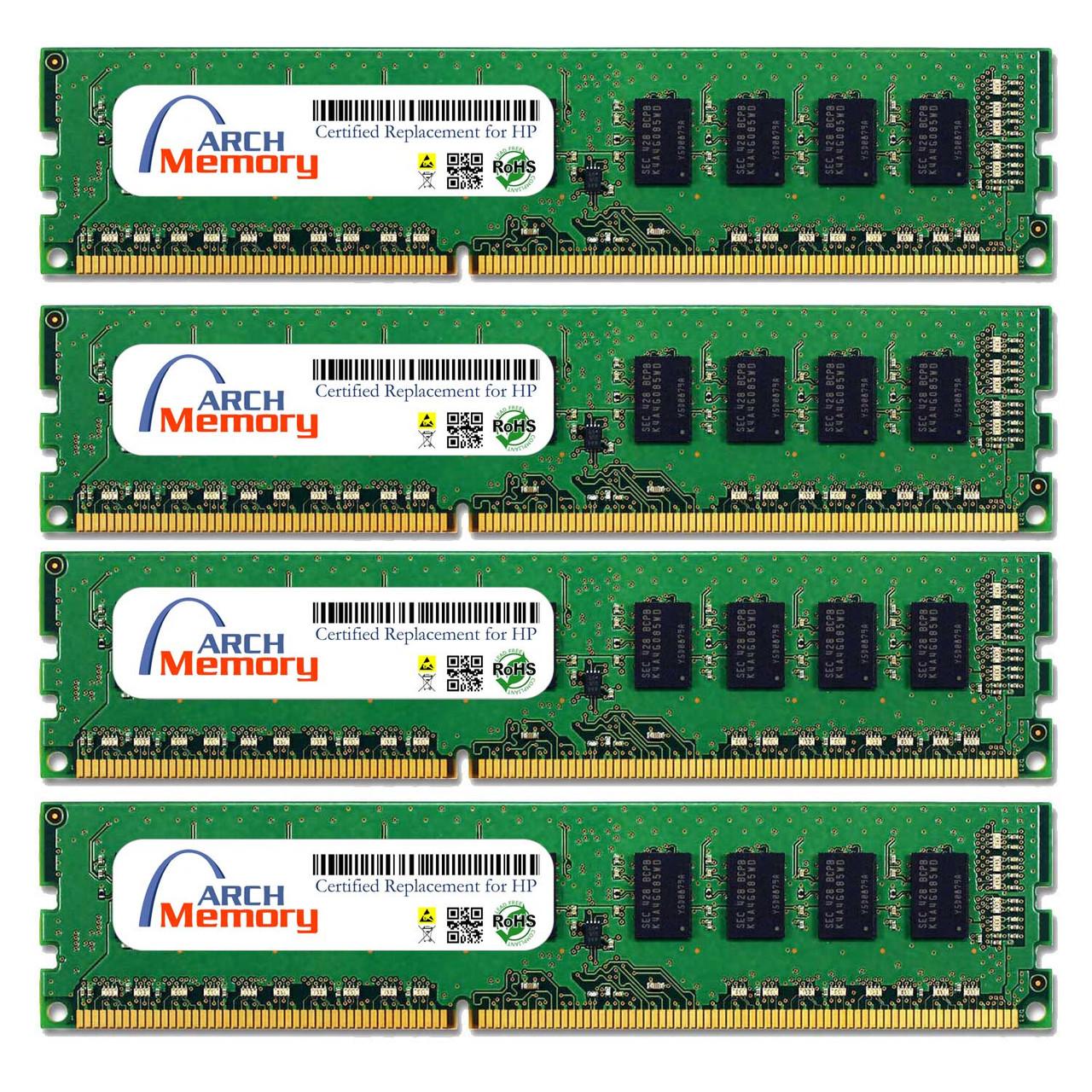 16GB A2H32AV (4 x 4GB) 240-Pin DDR3 ECC UDIMM RAM | Memory for HP