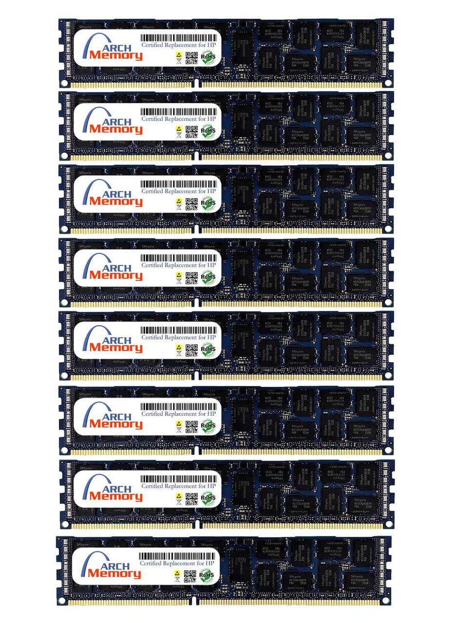 64GB 500662-B21 (8 x 8GB) 240-Pin DDR3 ECC RDIMM RAM | Memory for HP