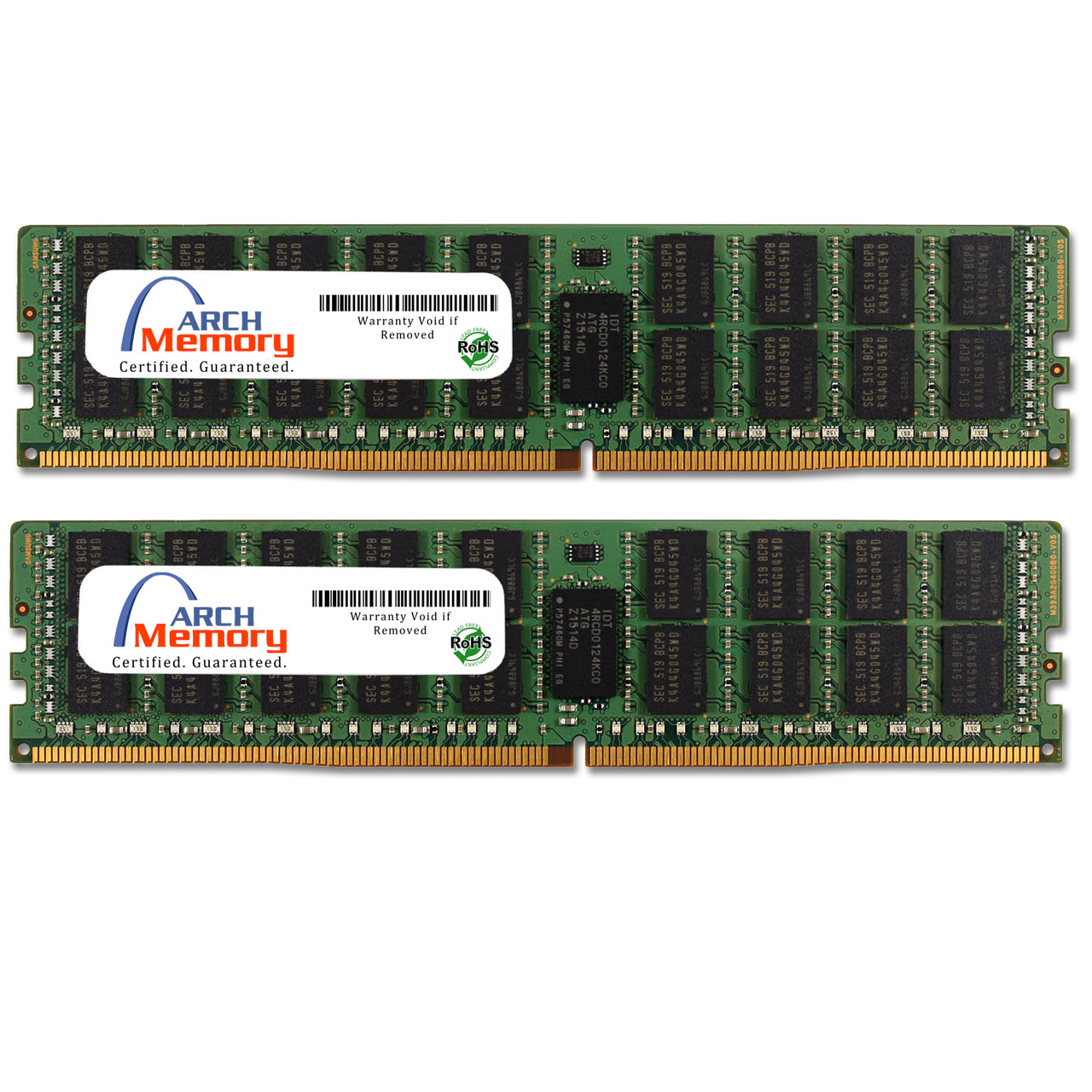 64GB (2 x 32GB) DDR4-2133 PC4-17000 288-Pin ECC Registered Load Reducing 4Rx4 RAM