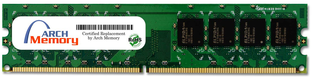 1GB 240-Pin DDR2-800 PC2-6400 ECC UDIMM (1Rx8) RAM | Arch Memory