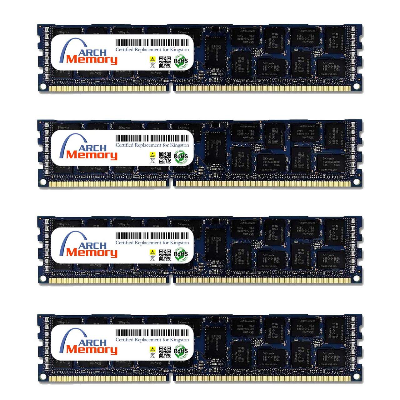 16GB KTH-PL316K4/64G 6 Kit (4 x 16 GB) DDR3 1600MHz 240-Pin ECC RDIMM Server RAM | Kingston Replacement Memory