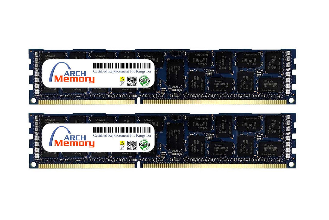 16GB KTA-MP318K2/32G Kit (2 x 16 GB) DDR3 1866MHz 240-Pin ECC RDIMM Server RAM   Kingston Replacement Memory