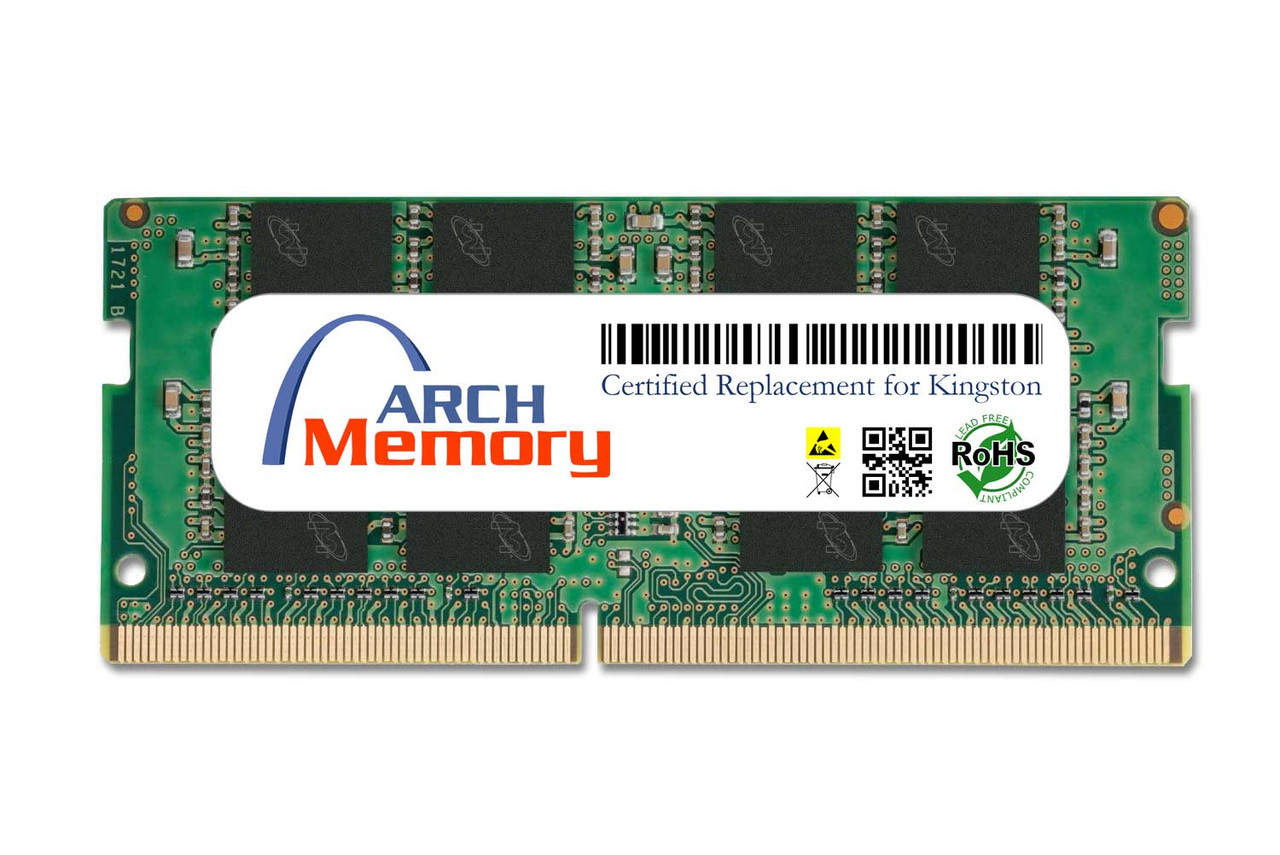 16GB KVR26S19D8/16 260-Pin DDR4 2666 MHz SODIMM RAM | Kingston Replacement Memory
