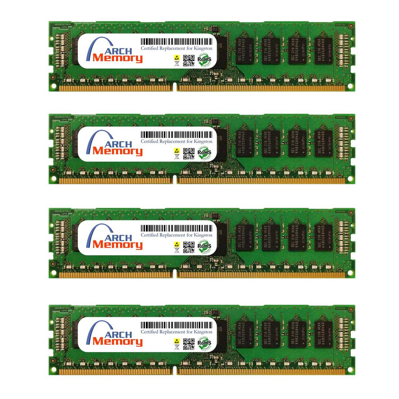 8GB KTH-PL316EK4/32G Kit (4 x 8 GB) DDR3 1600MHz 240-Pin ECC UDIMM RAM | Kingston Replacement Memory