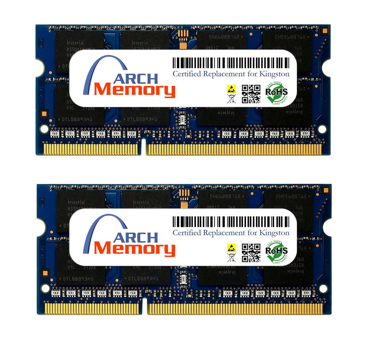 8GB KTA-MB1600LK2/16G Kit (2 x 8 GB) DDR3L 1600MHz 204-Pin SODIMM RAM | Kingston Replacement Memory