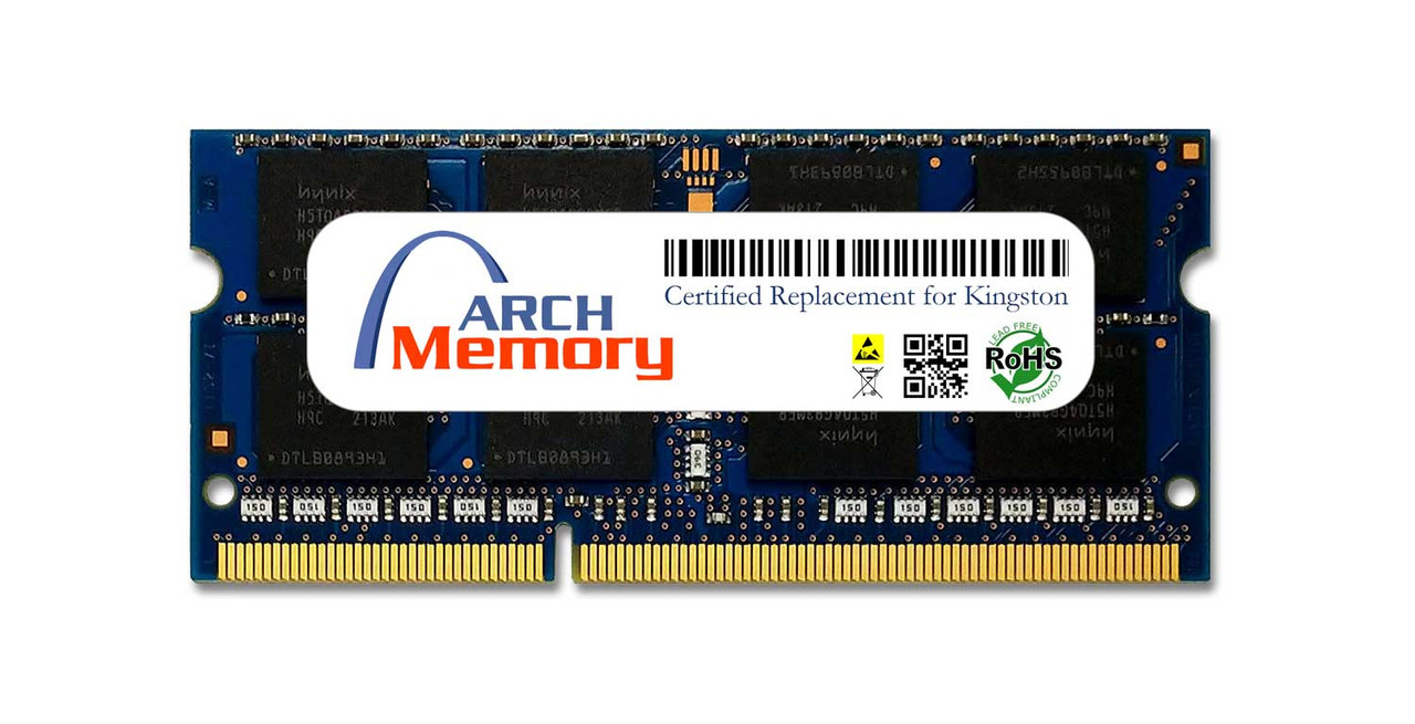 8GB KVR16S11/8 204-Pin DDR3 1600 MHz SODIMM RAM   Kingston Replacement Memory