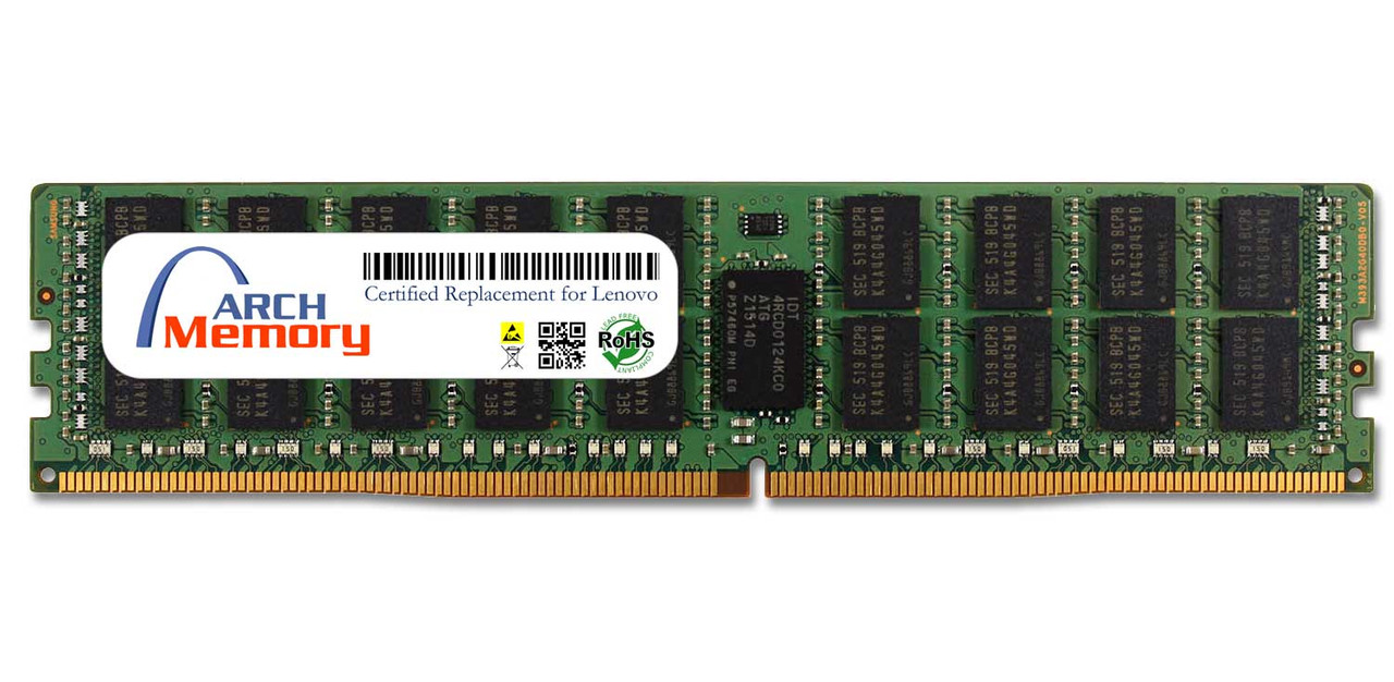 16GB 4X70M09262 288-Pin DDR4-2400 PC4-19200 ECC RDIMM Server RAM | Memory for Lenovo
