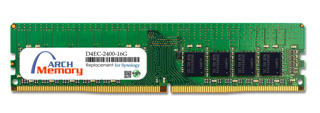 16GB D4EC-2400-16G 288-Pin DDR4-2400 PC4-19200 ECC UDIMM RAM | Memory for Synology