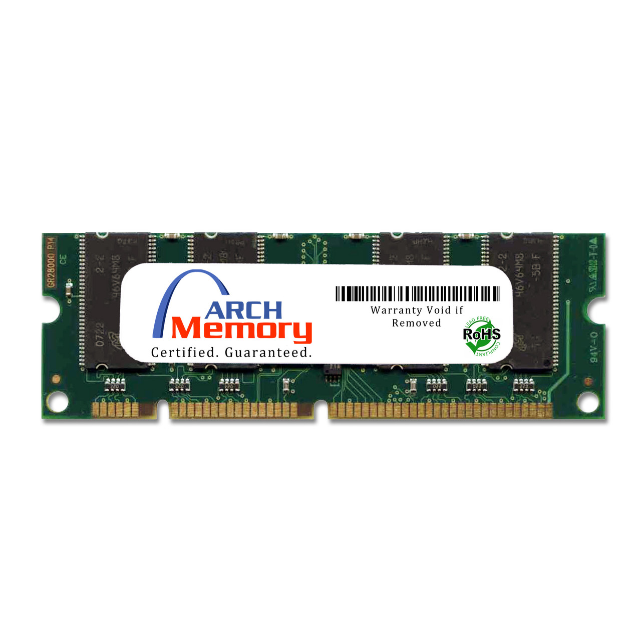 128MB 100-Pin 100MHz  SDRam for HP Printers (C9121A) | Arch Memory