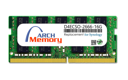 16GB D4ECSO-2666-16G 260-Pin DDR4-2666 PC4-21300 ECC Sodimm RAM | Memory for Synology