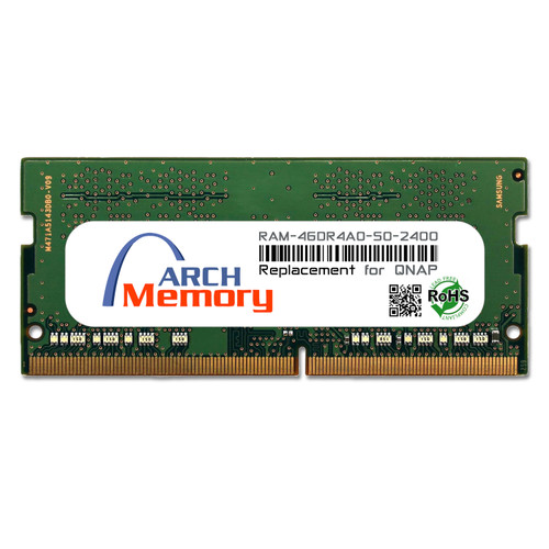 4GB RAM-4GDR4A0-SO-2400 DDR4-2400 PC4-19200 260-Pin SODIMM RAM A0 Version for TVS-951X | Memory for QNAP