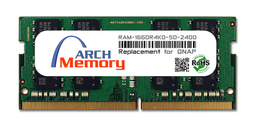 16GB RAM-16GDR4K0-SO-2400 DDR4-2400 PC4-19200 260-Pin SODIMM RAM K0 Version | Memory for QNAP