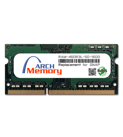 4GB RAM-4GDR3L-SO-1600 DDR3L-1600 PC3-12800 204-Pin SODIMM RAM | Memory for QNAP
