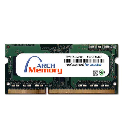 4GB  92M11-S4000 AS7-RAM4G DDR3-1600 204-Pin So-dimm RAM   Memory for Asustor