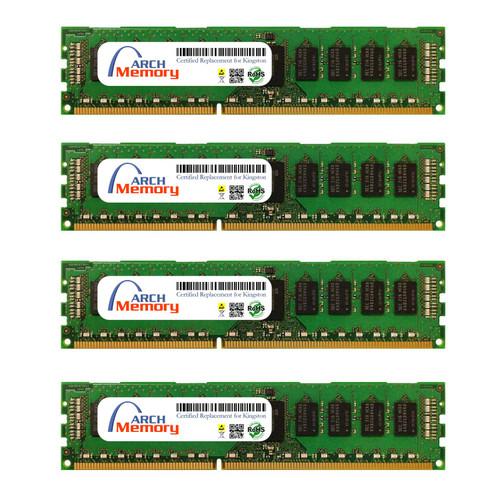 8GB KTD-PE316EK4/32G Kit (4 x 8 GB) DDR3 1600MHz 240-Pin ECC UDIMM RAM | Kingston Replacement Memory