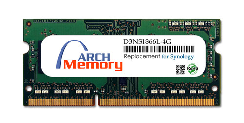 Arch Memory Replacement for Synology D3NS1866L-4G 4GB DDR3L-1866 PC3L-14900 204-Pin So-dimm RAM | Memory for Synology