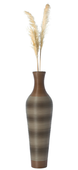 39 Inch Tall Standing Artificial Rattan Floor Vase for Home Decor