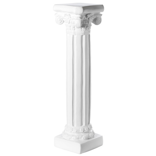 Decor White Fiberglass Roman Style Column Pedestal, Display Flower Vase Stand