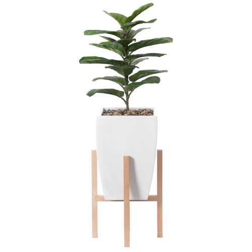 Indoor Decorative Square Planter With Wooden Stand