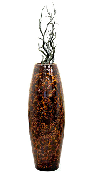 Antique Style Brown Floor Vase-36 Inch Tall