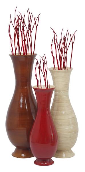 Tall Modern Handmade Bamboo Floor Vase