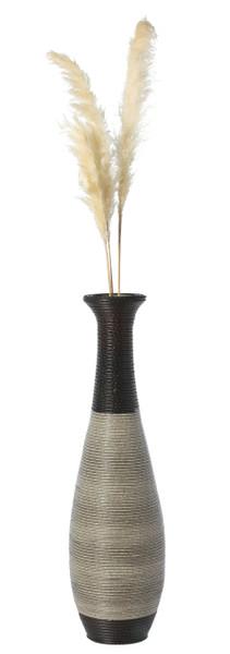 Tall Trumpet Design Decorative Artificial Rattan Wire Pattern Floor Vase 40 Inch High