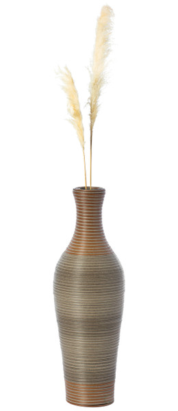 27 Inch Tall Decorative Artificial Rattan Tabletop Centerpiece Vase