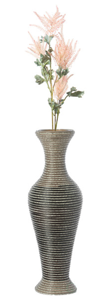 Artificial Rattan Weaved Wire Design Tabletop Accent Decorative Vase 23 Inch High