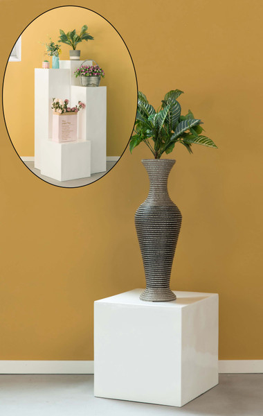 Display Cube Decorative Pillar Column Flower Stand Wedding Pedestal