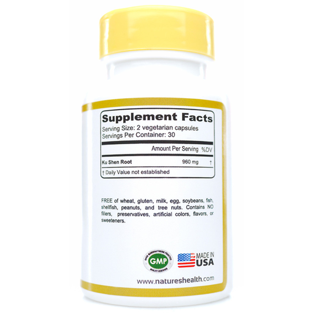 Ku Shen: Sophora Flavescens Supplement Facts