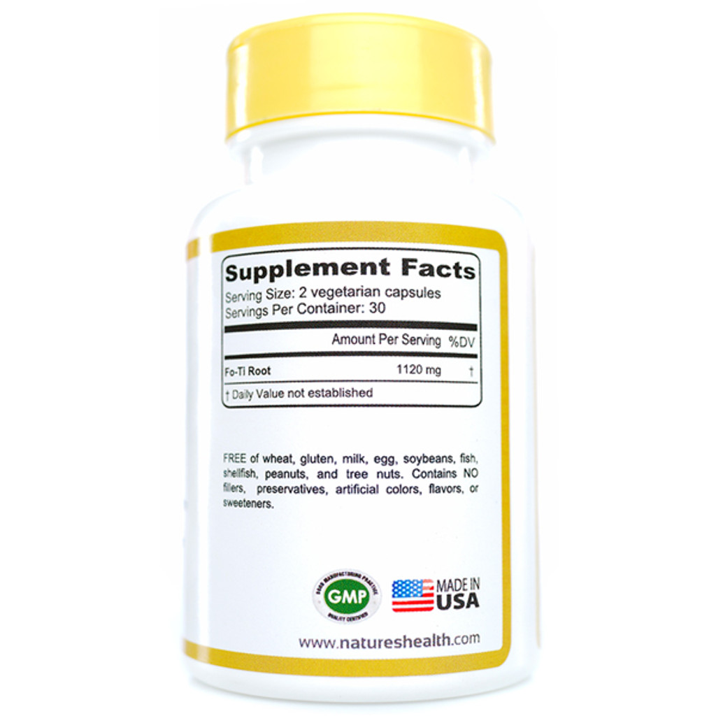 Fo-Ti He Shou Wu  Supplement Facts