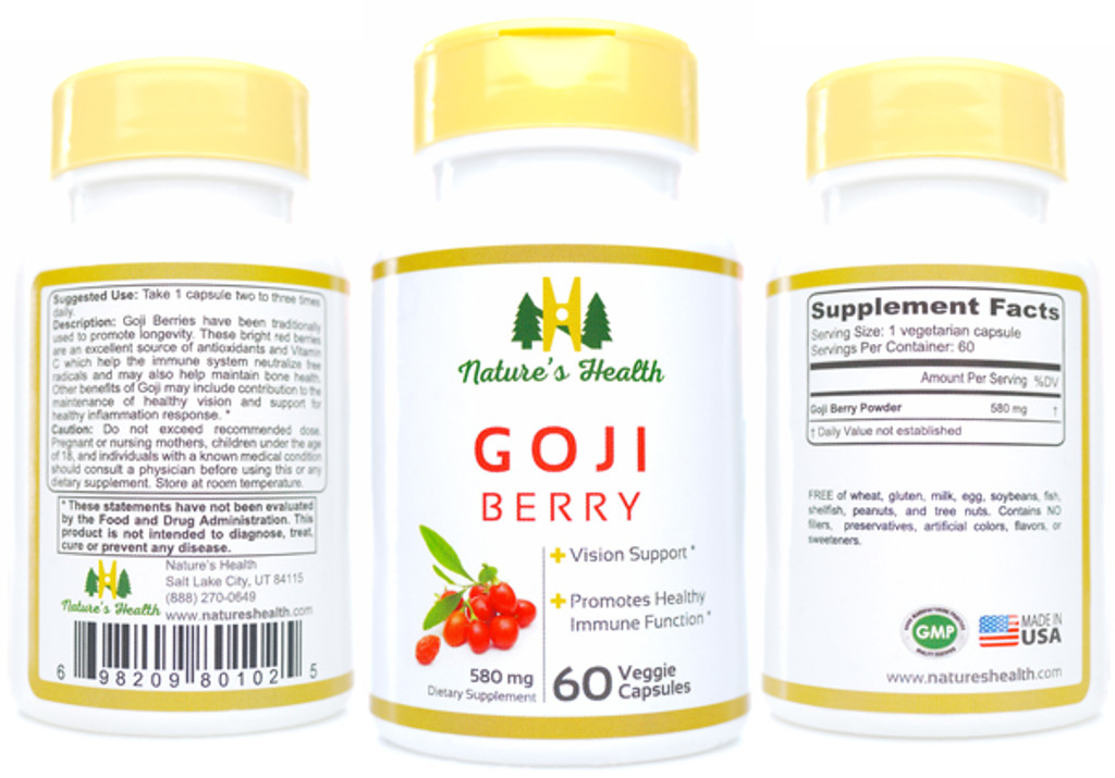 Goji Berry Herbal Supplement