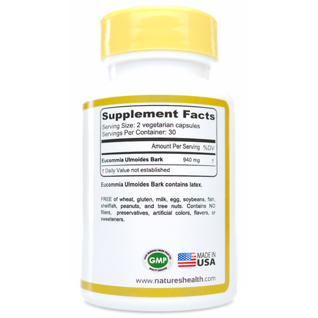 Eucommia Ulmoides Bark Supplement Facts