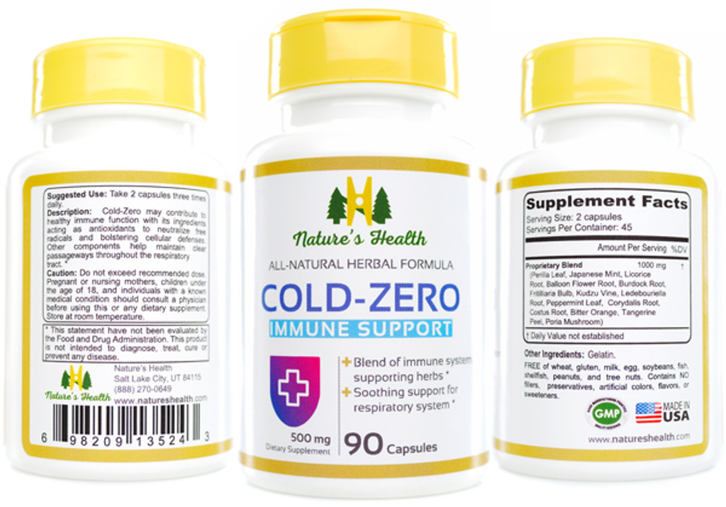 Cold Zero: Immune Support Herbal Supplement