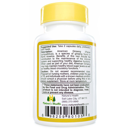 American Ginseng Panax Quinquefolius Suggested Use